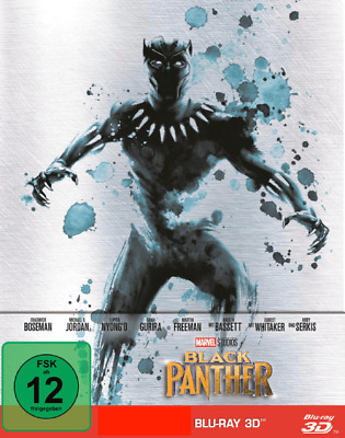 Black Panther - 3D Blu-ray ONLY - Marvel - neutrale CD Hülle - LESEN!