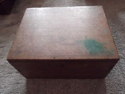 Antique / Vintage  Wooden Box with hinged lid  (B031)