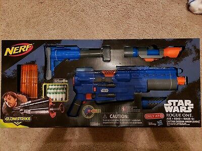 NERF Glowstrike Star Wars Rogue One Deluxe Blaster Gun * Capt Cassian Andor NEW