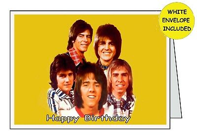 BAY CITY ROLLERS Personalised Handmade Card ........ All Occasions Birthday Open