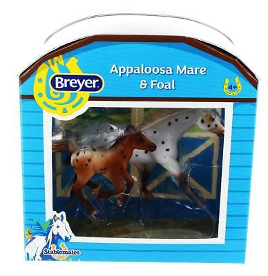 Breyer 1:32 Stablemates Model Horse: Appaloosa Mare & Foal