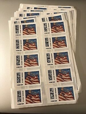 100 USPS FOREVER Stamps. CHEAP POSTAGE! 10 Sheets of 10 Stamps On Each Sheet!