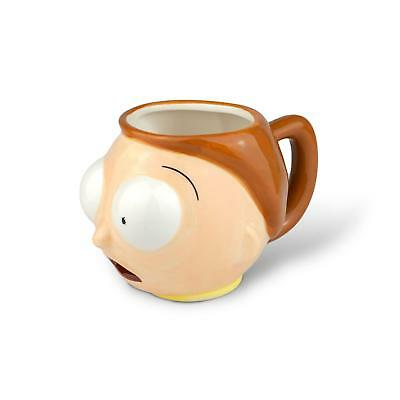 Rick And Morty Merchandise | Ceramic Molded Morty Head Cup | 20 Ounces