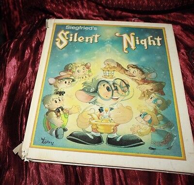 Silent Night vintage hard to find Christmas story Siegfried book