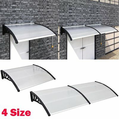 Door Canopy Awning Shelter Roof for Front/Back Door Window Porch Rain Protector