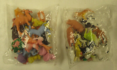 Lot of 2 sealed bags PLASTIC FARM & ZOO ANIMALS 1-2 IN