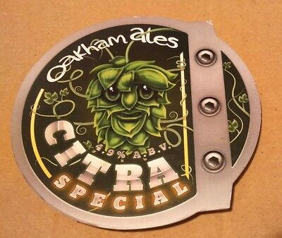 Beer pump clip badge front OAKHAM brewery CITRA SPECIAL cask ale