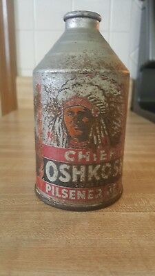 Chief Oshkosh Supreme Crowntainer Cone Top Beer Can