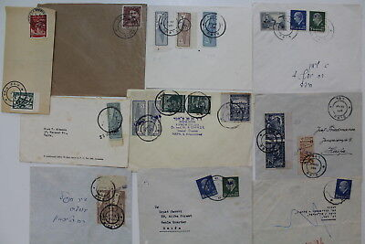 Israel, 1948, Interim, Collection of 10 Covers #a239