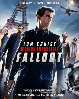 Mission: Impossible Fallout (Blu-ray, DVD, Digital HD) Brand New