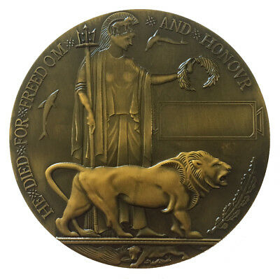 Wwi Memorial Plaque | Dead Man's Penny | World War One | Medallion | Army