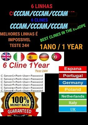 CCCAM SERVER SATELITTE HD for Europe High Qualite 6 Clines  - $19 99
