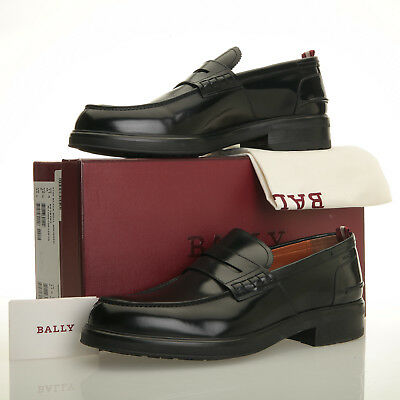 764bfc1d9f9 BALLY MODY BLACK Leather Apron Toe Penny Loafers - Mens 11.5 D - EUR ...