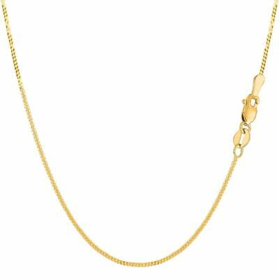 14K Solid Yellow Gold Gourmette Miami Cuban Necklace Pendant Chain All Sizes