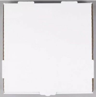 "(50-Pack) 12"" x 12"" x 1 3/4"" White Corrugated Plain Pizza / Bakery Box (B1A)"