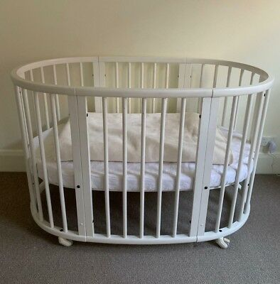 Stokke Sleepi White Cot With Mattress Excellent Condition - See Images