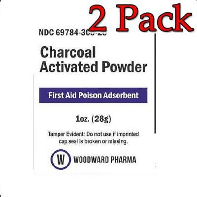 Activated Charcoal Powder, 28gm 01150, 2 Pack 369784308284C2431