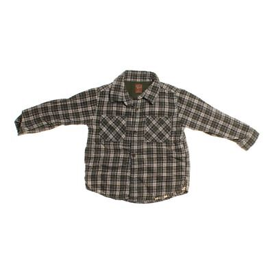 Old Navy Boys Button-up Shirt, size 2/2T,  grey,  cotton, polyester