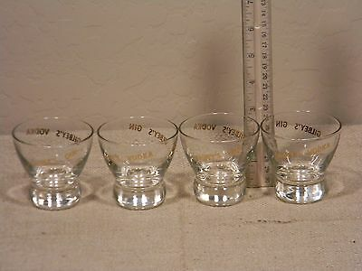 Gilbey's Gin / Vodka Glasses set of 4