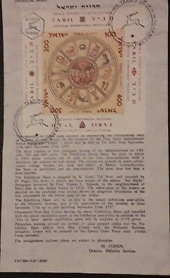 Israel Post Office New Issue Announcement 1954 Herzl 1957 Tabil Fdc Leaflets