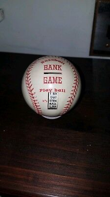 Vintage Baseball Game Dime Coin Bank
