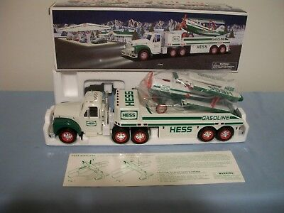 2002 Hess Toy Truck And Airplane, New In Box Tested And Works Great