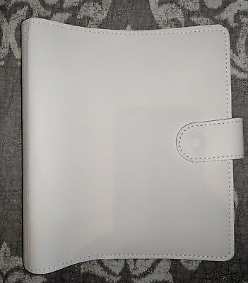 New Foxy Fix Leather White Travelers Notebook A5 Ringed Planner