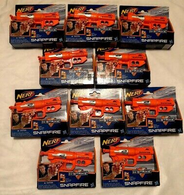 Lot Of 10 Nerf N-Strike Snapfire Guns Hasbro  Blasters Party Battle *NIB*