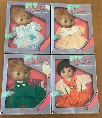 Mattel My Child Doll Party Time Outfits Nrfb, Htf!!!