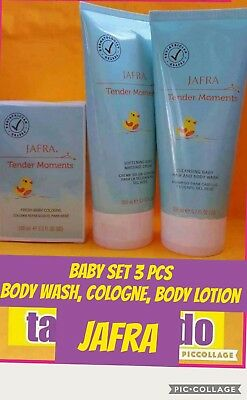 Jafra Tender Moments  Baby  Cologne, , Body Wash & Cream  3 Pc Set