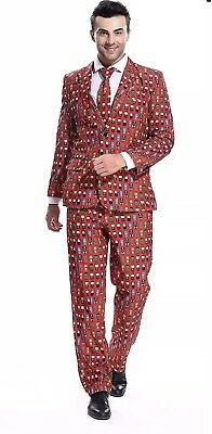 YOU LOOK UGLY TODAY Mens Red Color Bachelor Party Suit Jacket Marvel Avengers XL