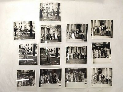 Vintage Native American Photo Lot - Men in Headdresses with Children - 13 Total
