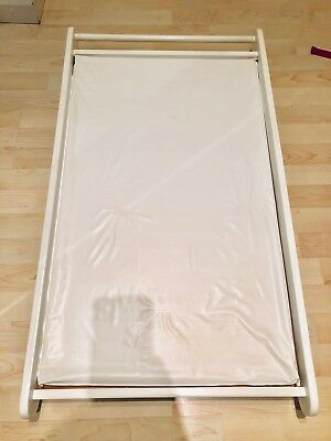 John Lewis & Partners Cot Top Changer and Changing Mat, White