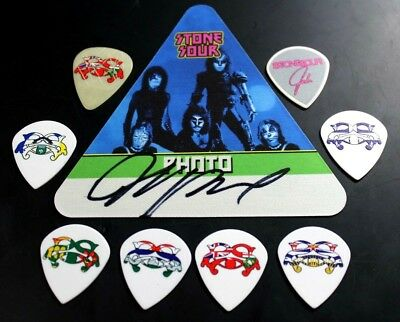 Stone Sour Josh Rand Canadian Tour Guitar Pick Lot Signed Backstage Pass Canada