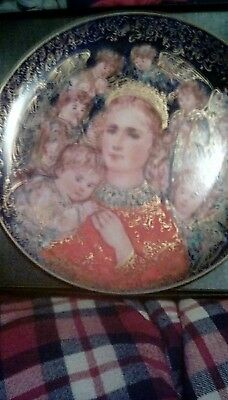 EDNA HIBEL 1985 Christmas plate The Angels Message by Knowles in original box