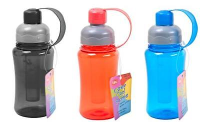 24 x Drink Bottle with Freezer Tube 300ml - Assorted Colours - Wholesale Bulk Lo