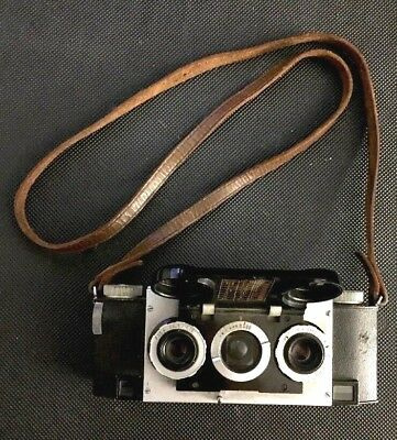 Stereo Realist 3.5 Stereo 35mm Camera (1041) - David White Co. w/ Leather strap