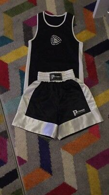 boxing shorts and vest
