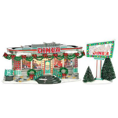 Dept 56 Snow Village ~ Shelly's Diner ~ With Box 55008 Read Description