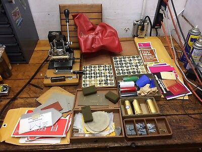 Kingsley Marked M-75 & M-60 Hot Foil Stamp Stamping Machine With Extras
