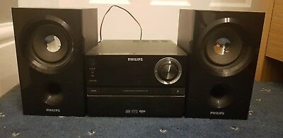 PHILIPS MCM1350/05 micro MUSIC SYSTEM + BASS REFLEX SPEAKERS mp3/USB/cd r/rw VGC