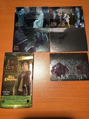 Topps Trading Cards Chrome Lord of the Ring Trilogy 2004 lot of 5 Fellowship