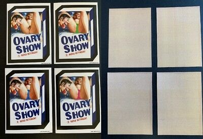 2011 Lost Wacky Packages 3rd Series VERY RARE TAN Backs All 4 OVARY SHOW Cards