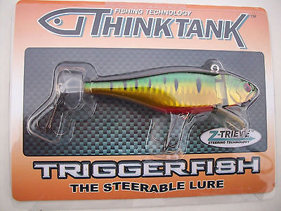 Think Tank Triggerfish The Steerable Lure 211A Holographic Green Tiger