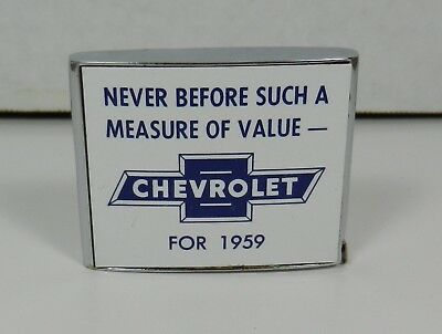 Vintage 1959 Chevrolet Wagon Facts Advertising Tape Measure Bowtie Logo Nice!