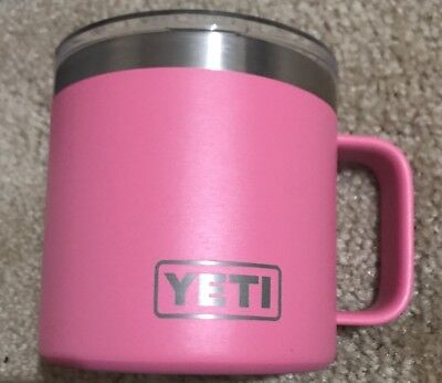 YETI DuraCoat HARBOR PINK Rambler 14 oz Camp Mug *Discontinued Yeti Color*