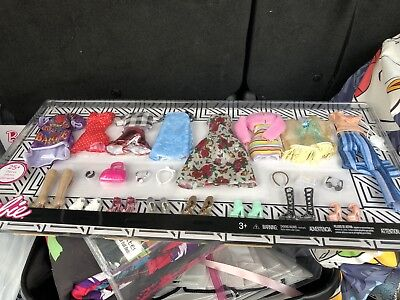 25 Pcs Barbie Doll Clothes 8 Outfits Accessories and Shoes Girl