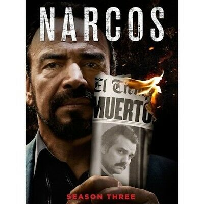Narcos: Season 3 (DVD, 2018 2-Disc Set) New & Sealed Free Shipping Included!