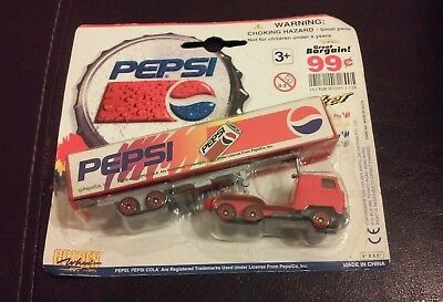 New 1996 Pepsi-Cola Truck Hauler Vehicle Golden Wheel Die-Cast