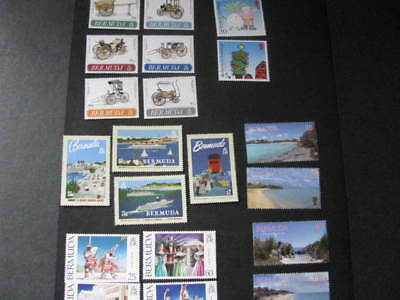 Bermuda Stamp 5 Sets from 1991-2000 Not Hinged Unused Free Shipping as Always!